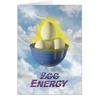 Energia do ovo - cartão de Vert