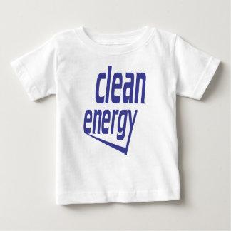 Energia limpa camiseta para bebê
