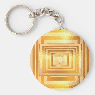 Energia morna dourada chaveiros