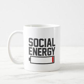 Energia social caneca de café