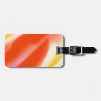 Energia vermelha da vela etiquetas para malas de viagem