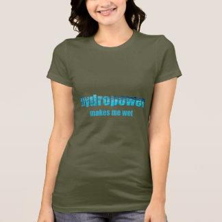 Energias hidráulicas molhadas! Camisas escuras