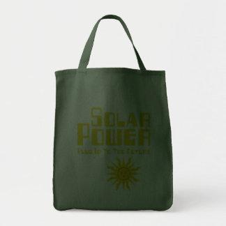 Energias solares sacola tote de mercado