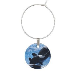 Enfeite De Taças De Vinho Baleias da orca