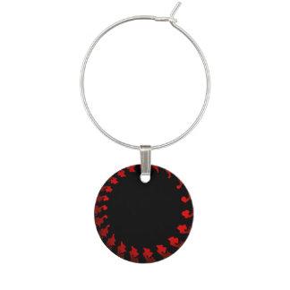 Enfeite De Taças De Vinho Branco preto vermelho do Fractal