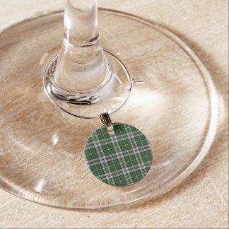 Enfeite De Taças De Vinho Encantos bretães do vinho do Natal do Tartan do
