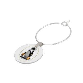 Enfeite De Taças De Vinho Pinguim pequeno do jogador de hóquei da mascote