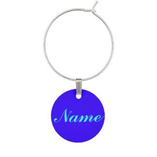 Enfeite De Taças De Vinho Roxo azul sua etiqueta conhecida do Tag do encanto