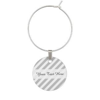 Enfeite De Taças De Vinho Teste padrão diagonal do cinza e o branco das