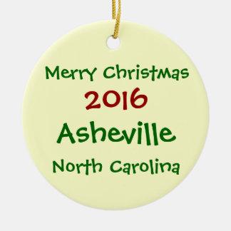 ENFEITES DE NATAL 2016 DE ASHEVILLE NORTH CAROLINA