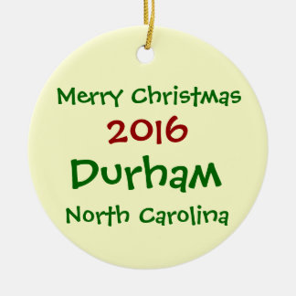 ENFEITES DE NATAL 2016 DE DURHAM NORTH CAROLINA