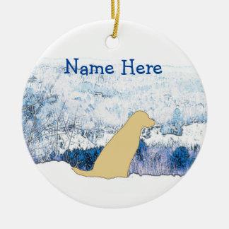 Enfeites de natal amarelos de Labrador