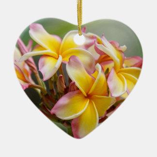 Enfeites de natal amarelos havaianos da flor do