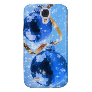 Enfeites de natal azuis galaxy s4 cover