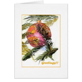 Enfeites de natal bonito cartão