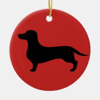 Enfeites de natal bonitos da silhueta do dachshund