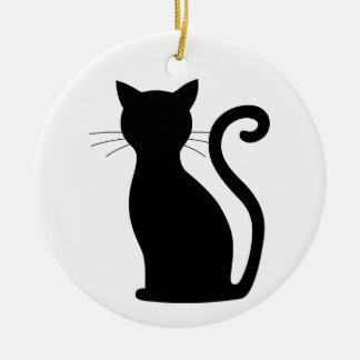 Enfeites de natal bonitos da silhueta do gato