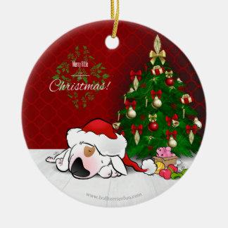 Enfeites de natal bonitos de bull terrier dos