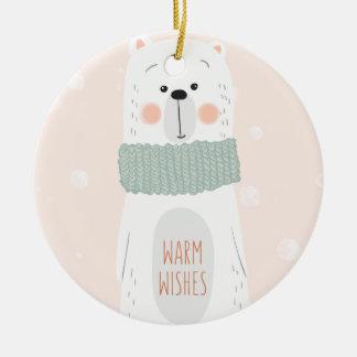 Enfeites de natal bonitos mornos polares dos