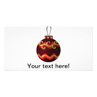 Enfeites de natal cartão com foto