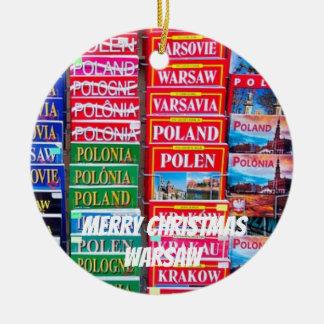 Enfeites de natal cénicos da porcelana de Varsóvia
