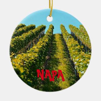 Enfeites de natal cénicos de Napa Valley