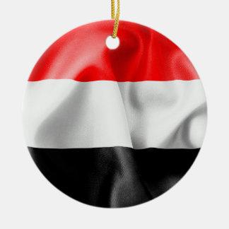 Enfeites de natal cerâmicos da bandeira de Yemen