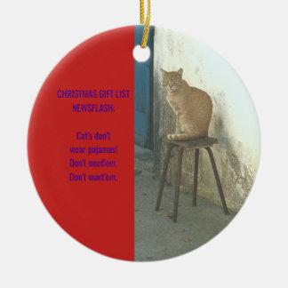 ENFEITES DE NATAL CÓMICOS DO CAT