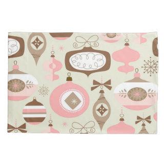 Enfeites de natal cor-de-rosa & cinzentos do