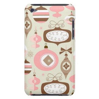 Enfeites de natal cor-de-rosa & cinzentos do capa para iPod touch