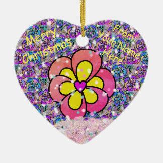 Enfeites de natal cor-de-rosa personalizados do
