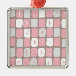 Enfeites de natal cor-de-rosa retros de Starbursts