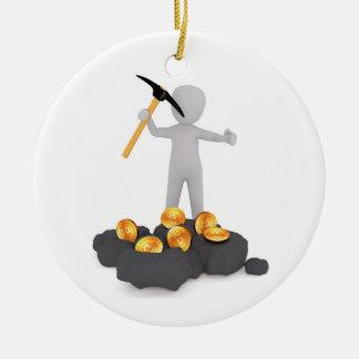 Enfeites de natal criptos de carvão do mineiro de
