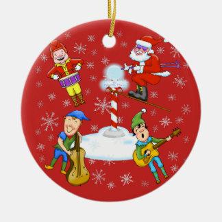Enfeites de natal da banda do Natal dos duendes de