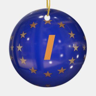 Enfeites de natal da bandeira da União Europeia de