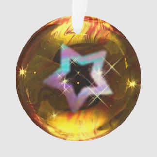Enfeites de natal da bolha do ouro da estrela