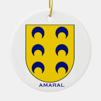 Enfeites de natal da brasão da família de Amaral