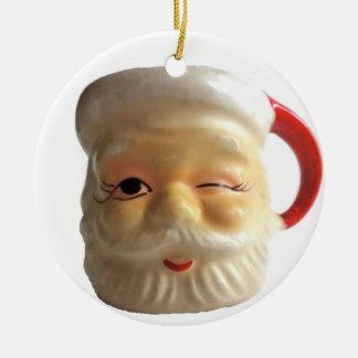 Enfeites de natal da caneca do papai noel do