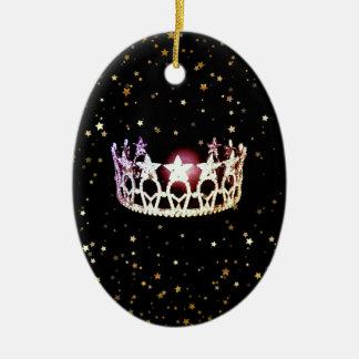 Enfeites de natal da coroa da prata do estado da