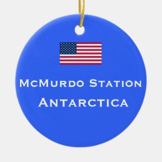 Enfeites de natal da estação de McMurdo