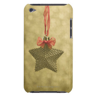Enfeites de natal da estrela do ouro capa para iPod touch