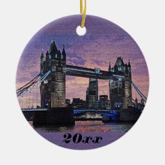 Enfeites de natal da ponte da torre de Londres