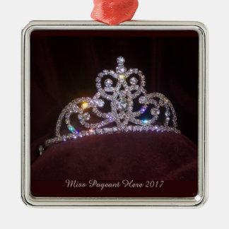 Enfeites de natal da tiara da princesa da