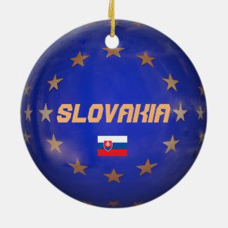Enfeites de natal da UE de Slovakia