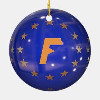 Enfeites de natal da União Europeia de France