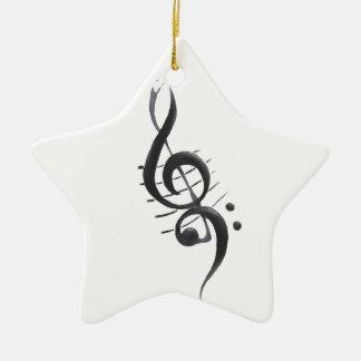 Enfeites de natal das notas musicais