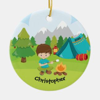 Enfeites de natal de acampamento personalizados