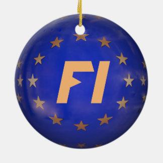 Enfeites de natal de Finlandia UE Bandeira