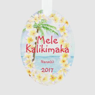Enfeites de natal de Havaí Mele Kalikimaka
