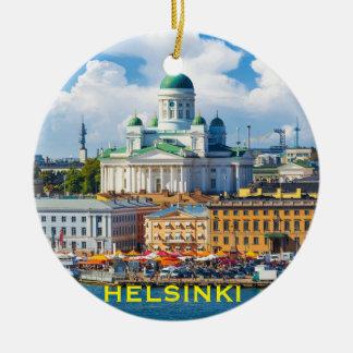 Enfeites de natal de Helsínquia Finlandia